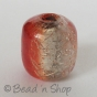 100 Gram. Crack Type Silver Foiled Cylindrical Glass Beads
