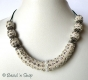 1pc White Shinning Maruti Necklace Studded with Rhinestones
