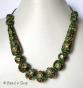 1pc Green Maruti Necklace with Rhinestones & Metal Rings